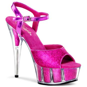 Plateau High Heels DELIGHT-609-5G - Hot Pink