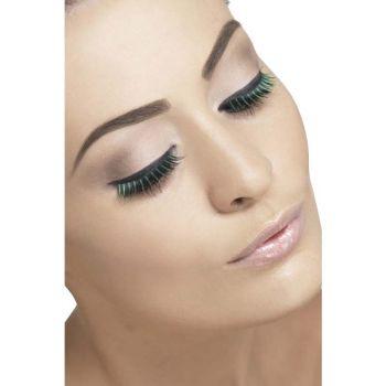 Augenwimpern zweifarbig : Schwarz/Grün*