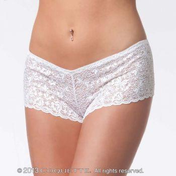 Spitzen-Panty - Weiß