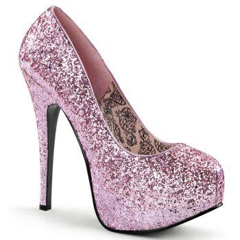 Plateau Pumps TEEZE-06G - Glitter Baby Pink