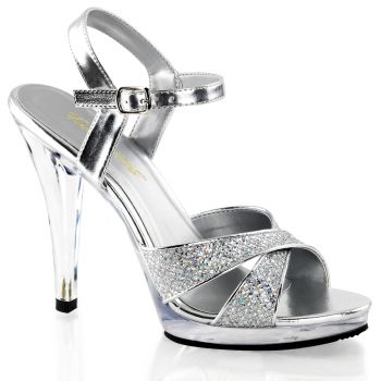 Plateau High Heels FLAIR-419G- Silber/Klar