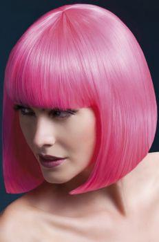 Bob Perücke ELISE, halblang - Neon Pink*