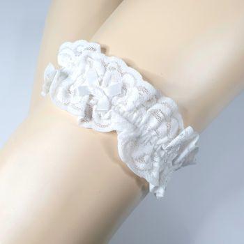 Strumpfband aus Spitze - Weiß*