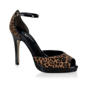 D'Orsay Pumps BLISS-33 - Leopard Ponyhaar