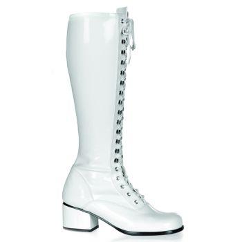 Retro Stiefel RETRO-302 - Lack Weiß*