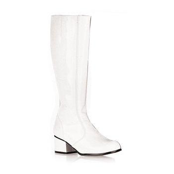 Retro Stiefel GOGO - Lack Weiß