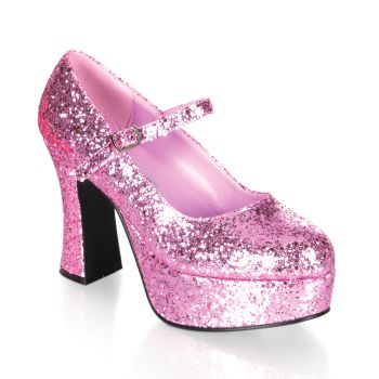 Retro Plateau Pumps MARYJANE-50G - Pink