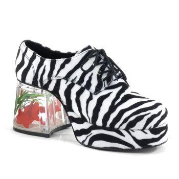 Herren Plateauschuhe PIMP-02 - Zebra