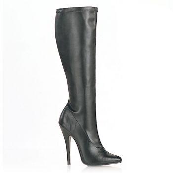 Extrem High Heels DOMINA-2000 : PU Schwarz*