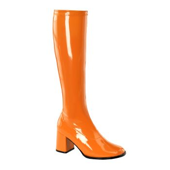 Retro Stiefel GOGO-300 : Lack Orange*