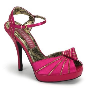 Peep Toe Sandalette PREEN-16 - Fuchsia