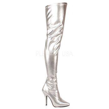 Overknee Stiefel SEDUCE-3000 - PU Silber