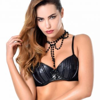 Wetlook / Lack BH RUBY - Schwarz*