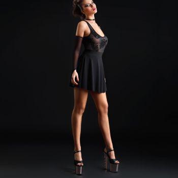 Ärmelloses Stretch Mini Kleid KAT - Schwarz