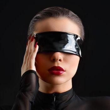 Lack Augenbinde - Schwarz