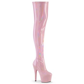 Plateau Overknee Stiefel ADORE-3000HWR - Baby Pink*