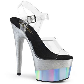 Plateau High Heels ADORE-708-2HGM - Silber