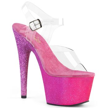 Plateau High Heels ADORE-708OMBRE - Pink/Lavendel