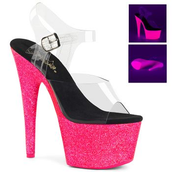 Plateau High Heels ADORE-708UVG - Neon Pink