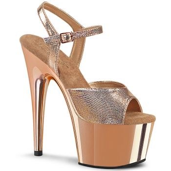 Plateau High Heels ADORE-709 - Rose Gold Struktur