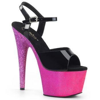 Plateau High Heels ADORE-709OMBRE - Pink/Lavendel