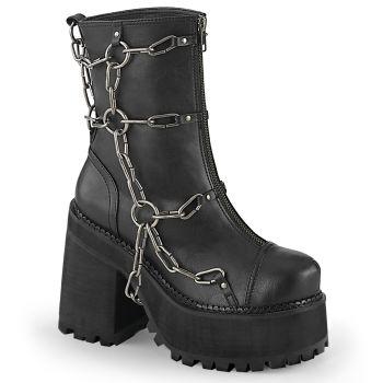 Gothic Ankle Boots ASSAULT-66 - Schwarz