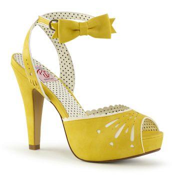 Peeptoe Sandalette BETTIE-01 - Gelb