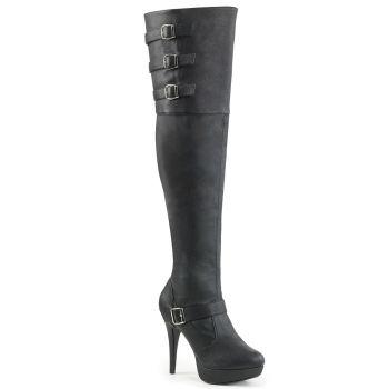 Overknee Stiefel CHLOE-308 - Schwarz