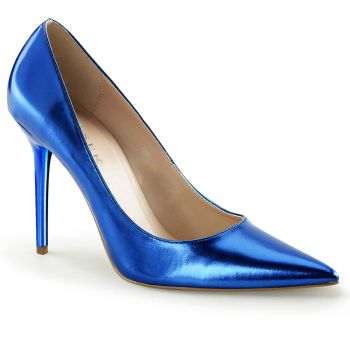 Stiletto Pumps CLASSIQUE-20 - PU Blau Metallic*