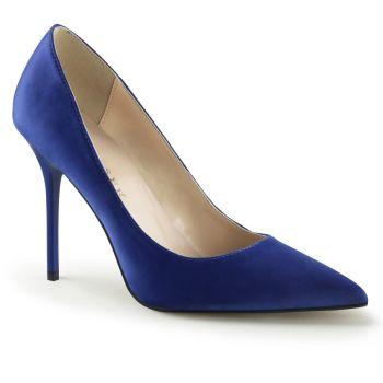 Stiletto Pumps CLASSIQUE-20 - Satin Blau