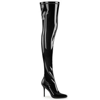 Overknee Stiefel CLASSIQUE-3000 - Lack Schwarz*
