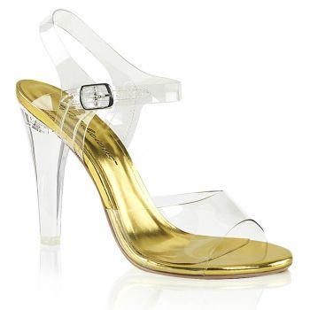 Sandalette CLEARLY-408 - Klar/Gold