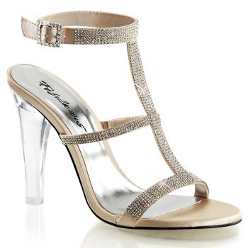 Sandalette CLEARLY-418 - Champagner