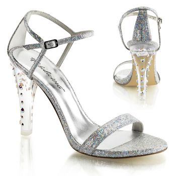 Sandalette CLEARLY-425 - Silber