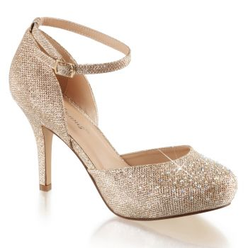 D'Orsay Pumps COVET-03 - Nude Glitter