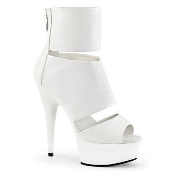 Sommer Stiefelette DELIGHT-600-16 - PU Weiß