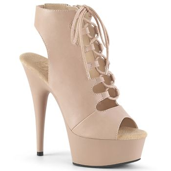 Plateau Booties DELIGHT-600-20 - Matt Nude