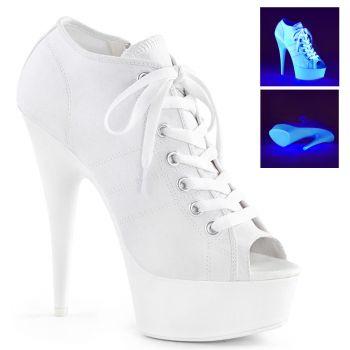 Canvas High Heel Sneakers DELIGHT-600SK-01 - Weiß
