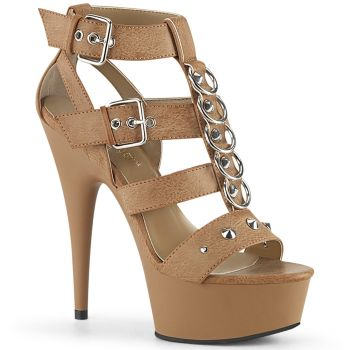 Plateau High Heels DELIGHT-658 - Taupe