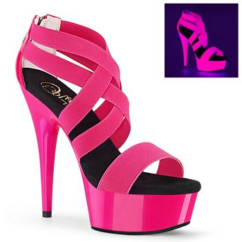 Plateau High Heels DELIGHT-669 - Neon Pink