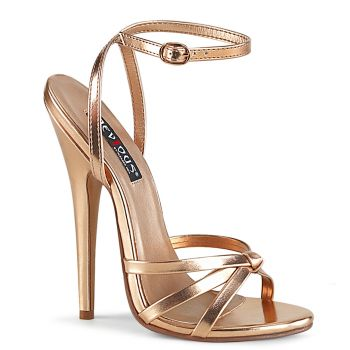 Extrem High Heels DOMINA-108 - Rose Gold
