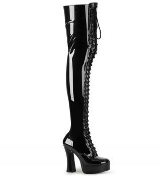 Overknee Stiefel ELECTRA-3023 - Lack  Schwarz