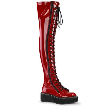 Gothic Plateaustiefel EMILY-375 - Lack Rot*