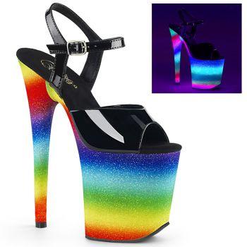 Extrem High Heels FLAMINGO-809WR - Neon Mehrfarbig