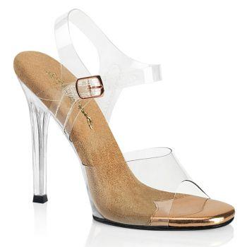 Sandalette GALA-08 - Rose Gold/Klar