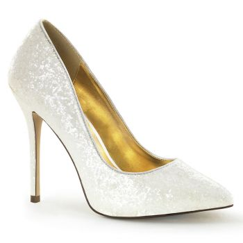 Glitter Pumps AMUSE-20G - Ivory