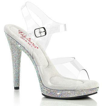 High Heels Sandalette GLORY-508DM - Klar/Silber