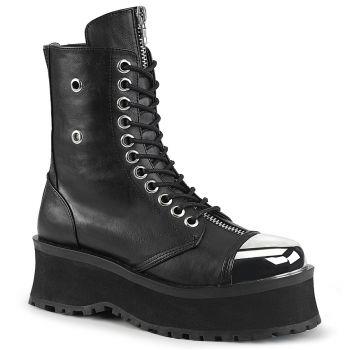 Plateau Ankle Boots GRAVEDIGGER-10 - Schwarz