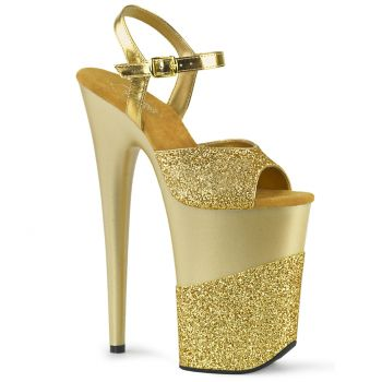 Extrem Plateau Heels INFINITY-909-2G - Gold
