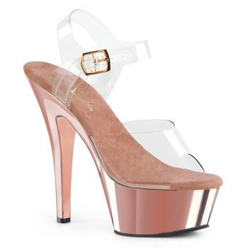 Plateau High Heels KISS-208 - Klar/Rose Gold